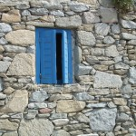 BLUE WINDOW. MYKENOS